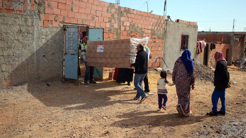TİKA'dan Tunus'taki sel mağdurlarına yardım