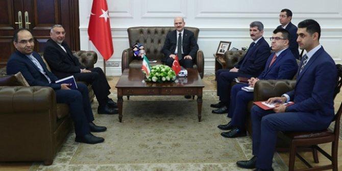 Bakan Soylu İran'ın Ankara Büyükelçisi Fard'ı kabul etti