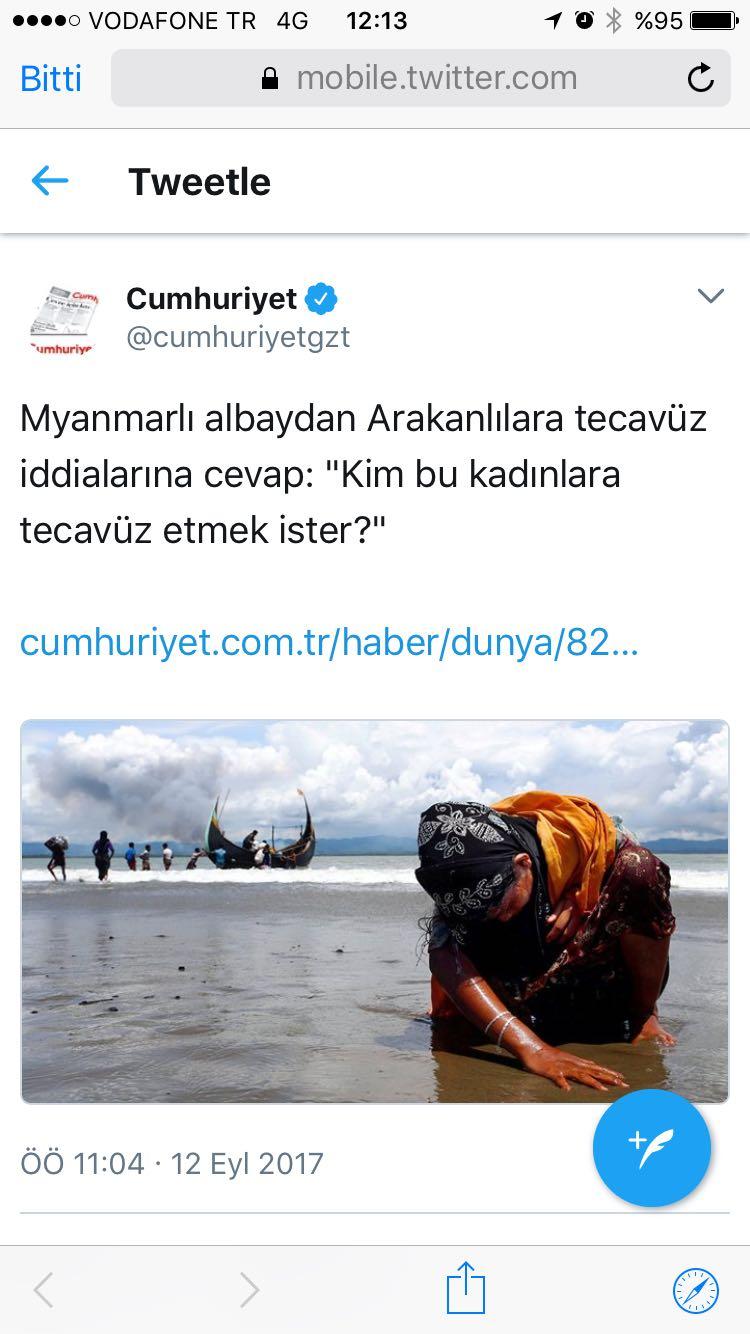 Cumhuriyet'ten skandal 'Myanmar' başlığı