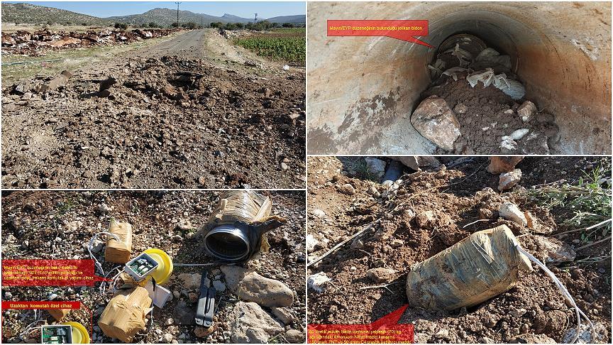 PKK'lı teröristlerce menfeze yerleştirilen patlayıcı imha edildi!