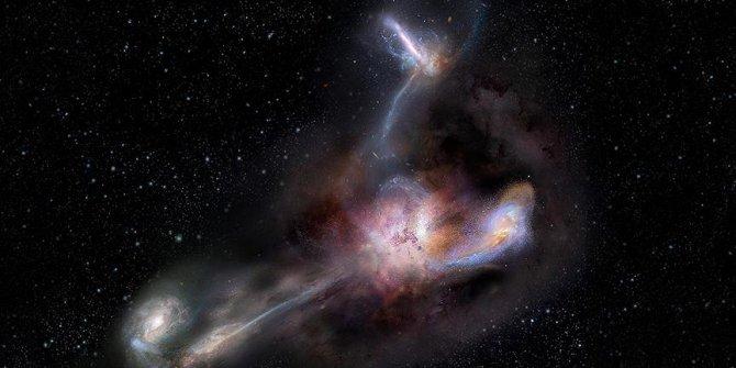Galaktik yamyamlık yapan en parlak galaksi