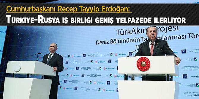 Başkan Erdoğan: Türkiye-Rusya iş birliği geniş yelpazede ilerliyor