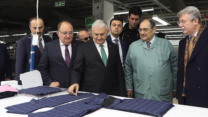 TBMM Başkanı Yıldırım Edirne'de fabrika ziyaret etti