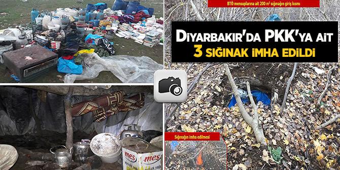Diyarbakır'da PKK'ya ait 3 sığınak imha edildi
