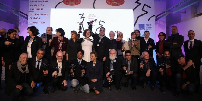 """""""Aydın Doğan Uluslararası Karikatür Yarışması""""nın ödülleri sahiplerini buldu"""