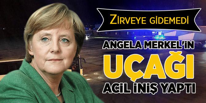 Angela Merkel'in uçağı acil iniş yaptı