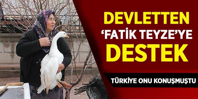 Türkiye onu konuşmuştu! Devletten 'Fatik Teyze'ye destek