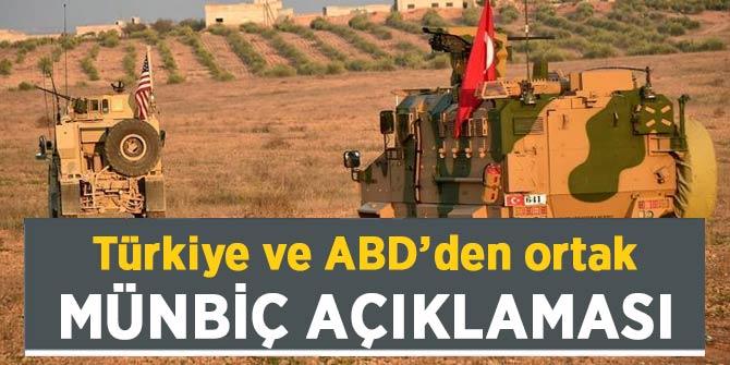 Son Dakika... Türkiye ve ABD'den ortak Münbiç açıklaması