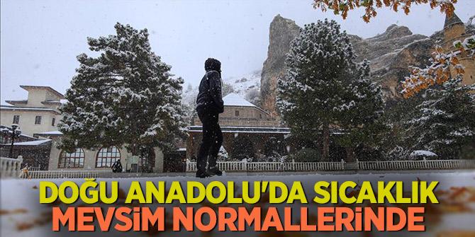 Doğu Anadolu'da sıcaklık mevsim normallerinde