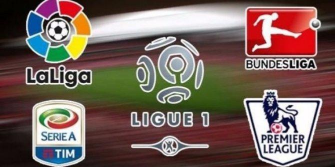 Avrupa'nın en büyük 5 futbol ligi'nde son durum...