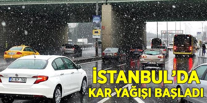 İstanbul'da kar sürprizi!