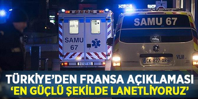 Türkiye, Fransa'nın Strazburg şehrindeki silahlı saldırıyı lanetledi