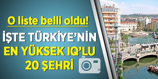 O liste belli oldu! İşte Türkiye'nin IQ ortalaması en yüksek 20 şehri