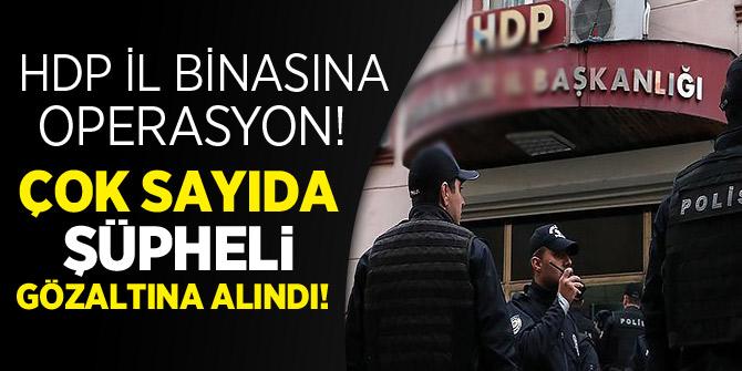 Diyarbakır HDP il binasına operasyon: 35 PKK şüphelisine gözaltı