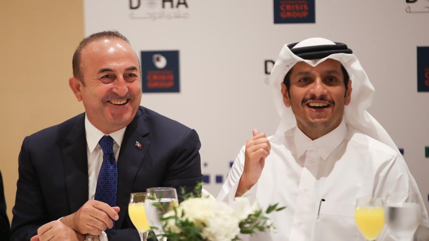 Çavuşoğlu'ndan Doha'da diplomasi trafiği
