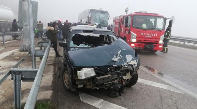 Amasya'da zincirleme trafik kazası: 9 yaralı
