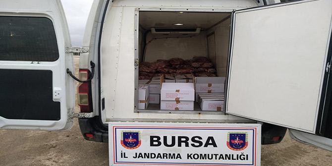 Bursa'da kaçak et operasyonu: 1 Ton et yakalandı