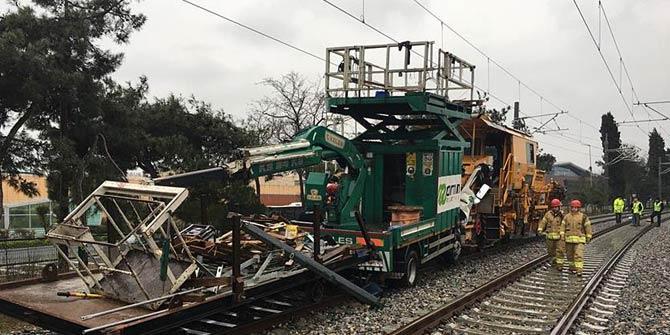 Florya'da tren kazası! Yaralılar var