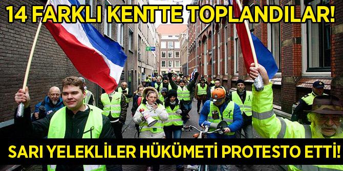 Hollanda'da 'sarı yelekliler' hükümeti protesto etti