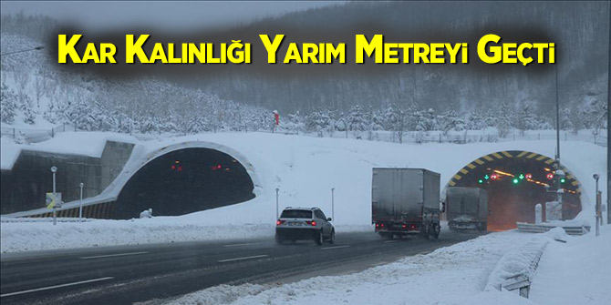 Kar Kalınlığı Yarım Metreyi Geçti
