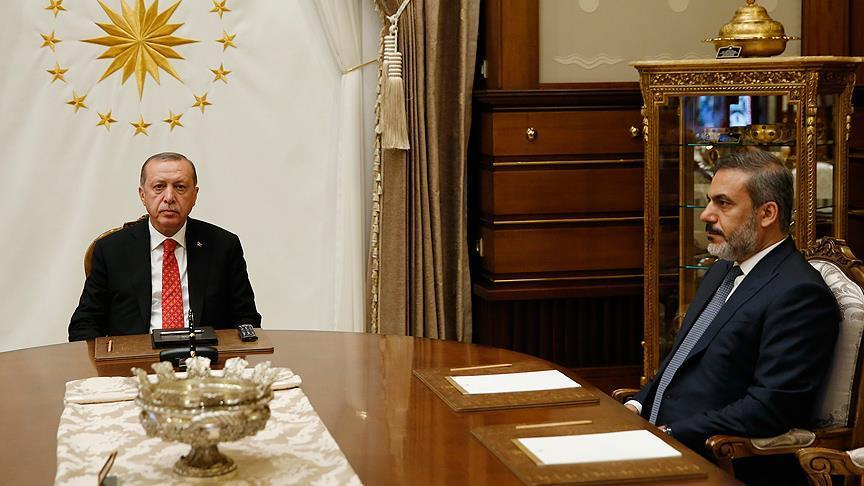 Cumhurbaşkanı Erdoğan MİT Başkanı Fidan'ı kabul etti