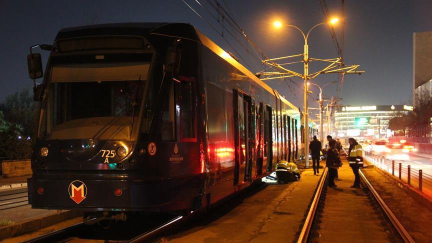 İstanbul'da tramvayda teknik arıza