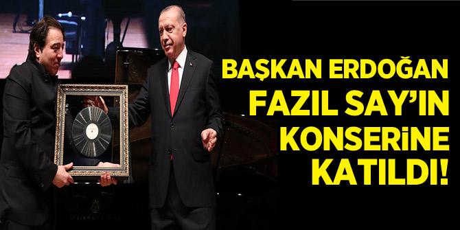 Başkan Erdoğan Fazıl Say'ın konserine katıldı!
