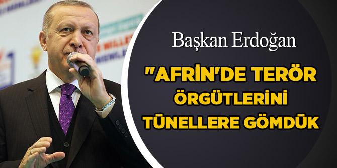 Erdoğan: Hepsini tepeler geçeriz