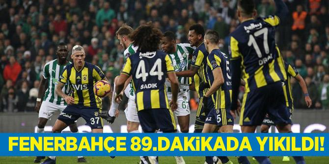 Fenerbahçe 89.dakikada yıkıldı! Bursaspor - Fenerbahçe maç özeti ve golleri izle
