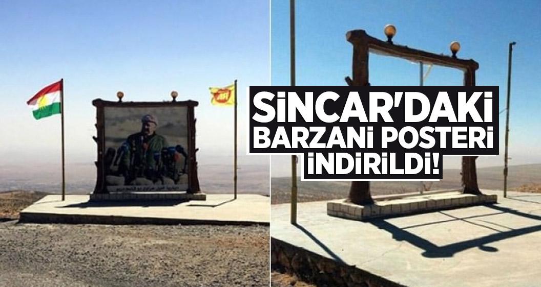 Sincar'daki Barzani posteri indirildi!