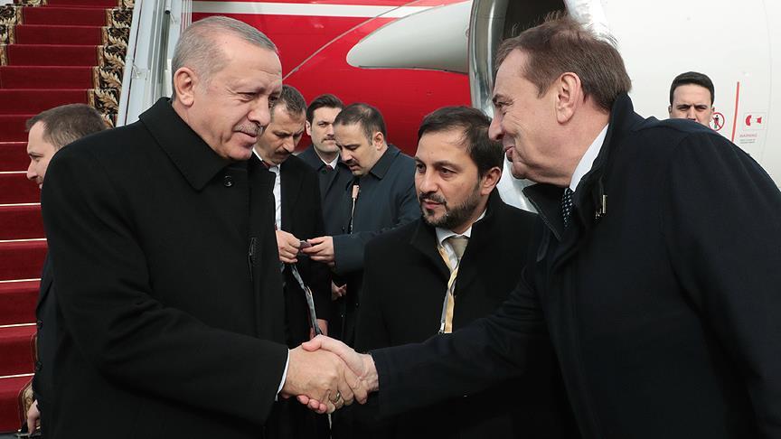 Cumhurbaşkanı Erdoğan Soçi Zirvesi için Rusya'da