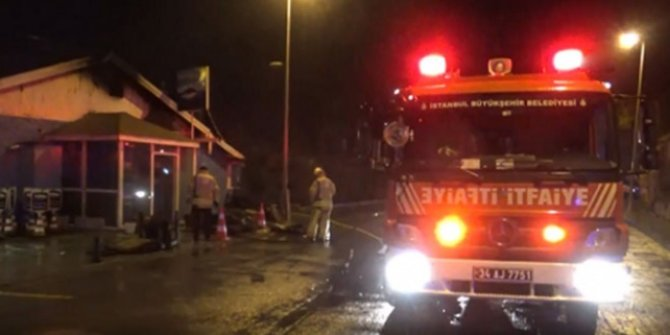 Silivri'de balık restoranında yangın çıktı!