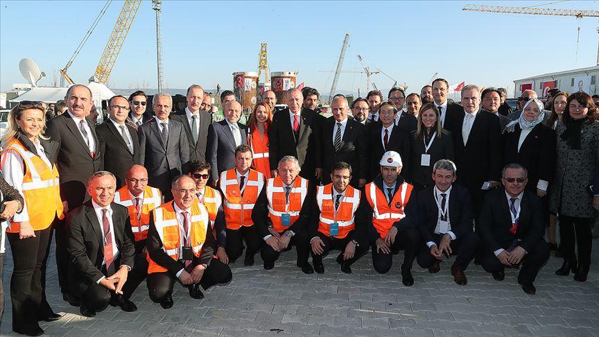 Cumhurbaşkanı Erdoğan 1915 Çanakkale Köprüsü'nü inceledi