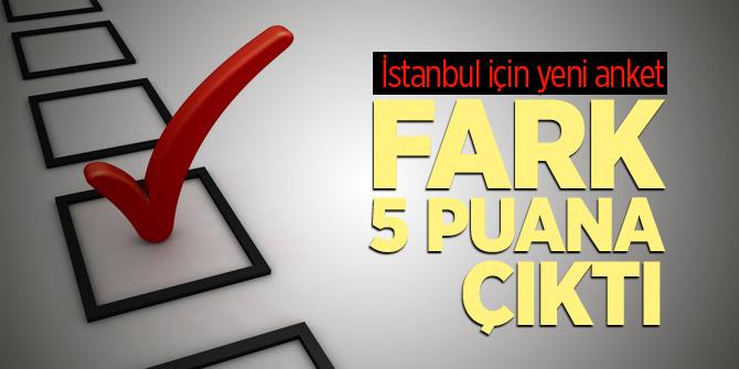Yeni İstanbul anketi: Fark 5 puan