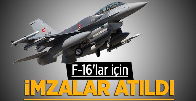 F-16'lar için imzalar atıldı