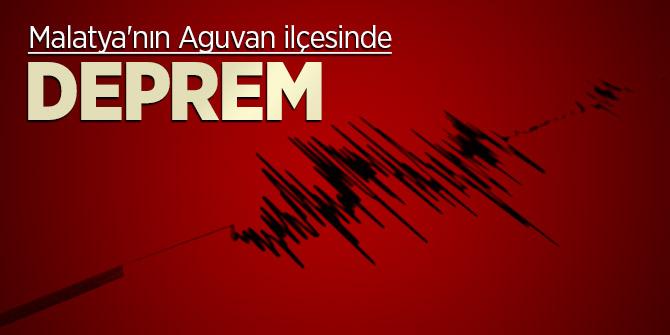 Malatya'nın Aguvan ilçesinde deprem meydana geldi