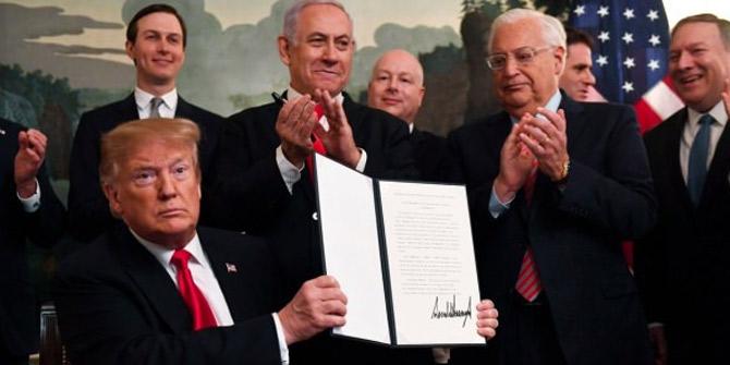 Golan'ın altındaki hazine Trump'a imzayı attırdı