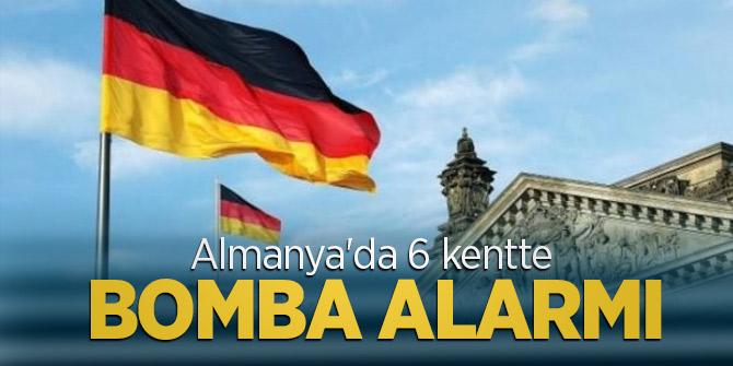 Almanya'da 6 kentte bomba alarmı verildi!