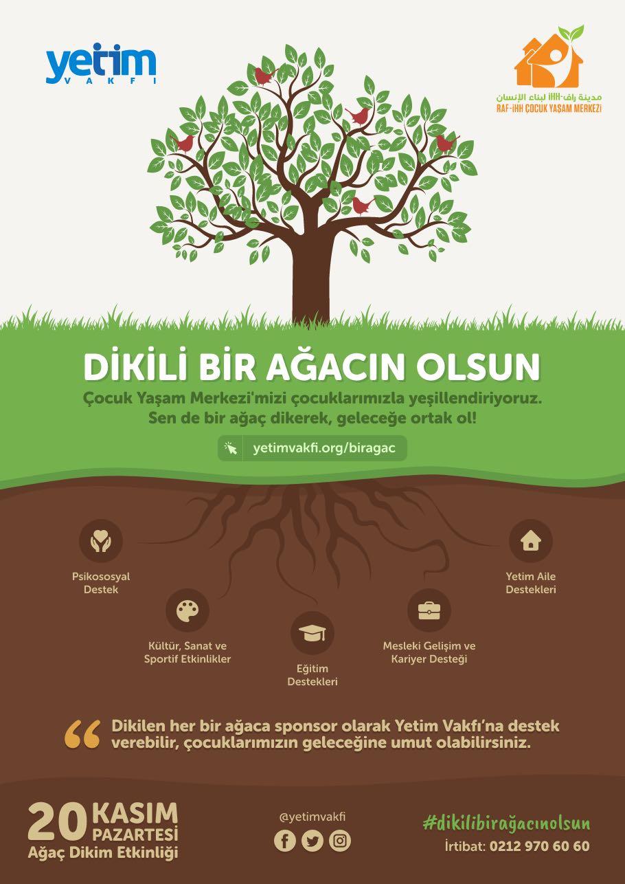 Yetim Vakfı'ndan anlamlı çağrı! 'Dikili bir ağacın olsun'