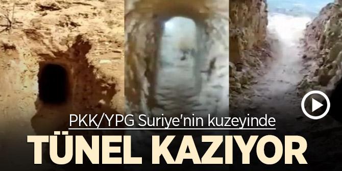 PKK/YPG Suriye'nin kuzeyinde tünel kazıyor