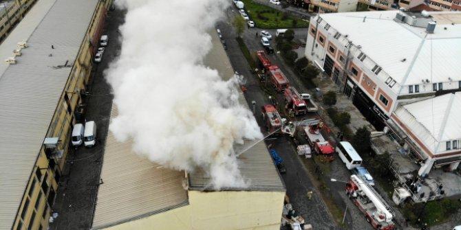 Başakşehir İSTEKS Sanayi Sitesi'nde yangın!