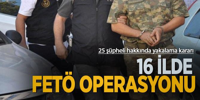 """Bursa merkezli 16 ilde FETÖ'nün """"askeri gizli yapılanması""""na yönelik operasyon!"""