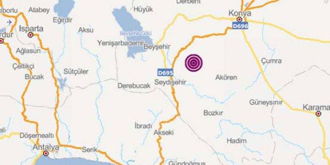 Konya'da art arda iki deprem!