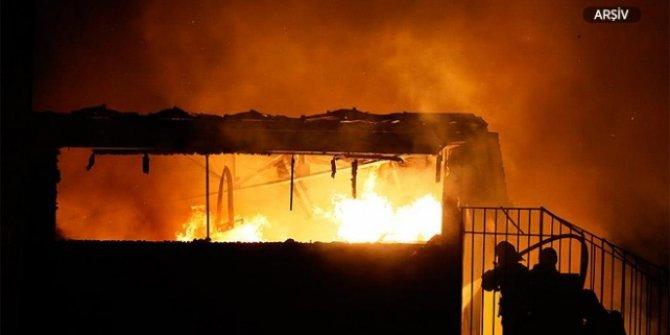 Mersin'de fabrikada yangın!