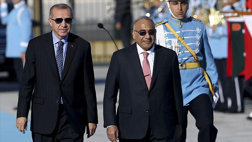 Cumhurbaşkanı Erdoğan Irak Başbakanı Abdulmehdi'yi resmi törenle karşıladı