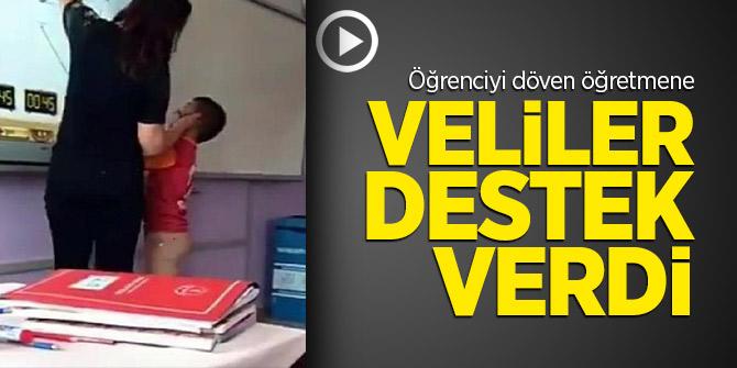 Öğrenciyi döven öğretmene veliler destek verdi