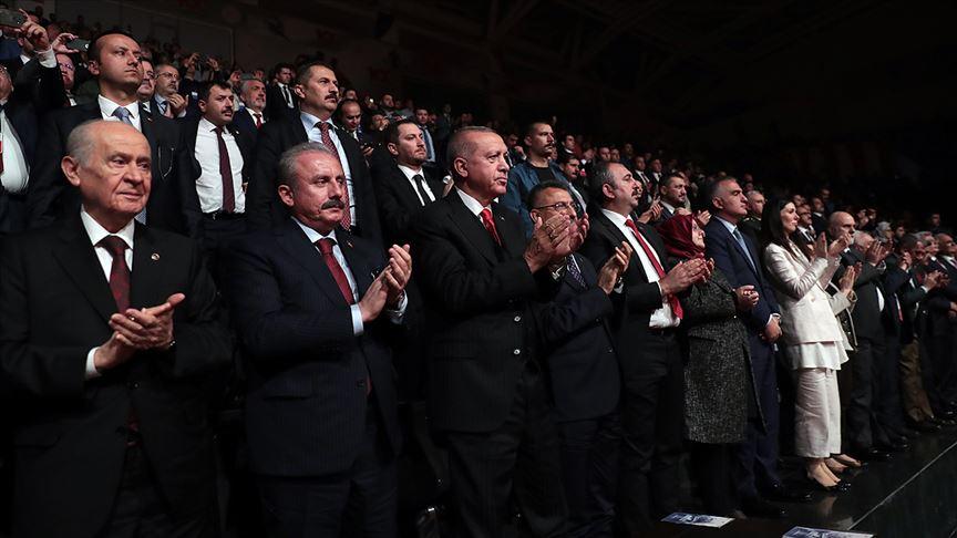 Cumhurbaşkanı Erdoğan '1919 Bitmeyen Yolculuk' drama sahne gösterimi programını izledi