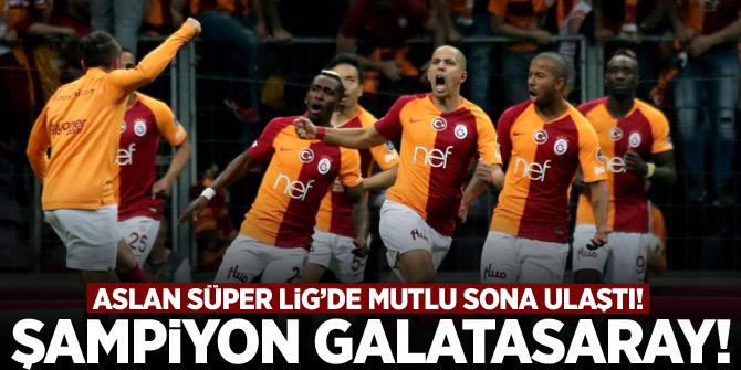 Galatasaray Süper Lig'de mutlu sona ulaştı! Şampiyon Galatasaray!