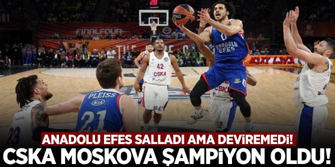 Anadolu Efes,CSKA Moskova'yı salladı ama deviremedi!
