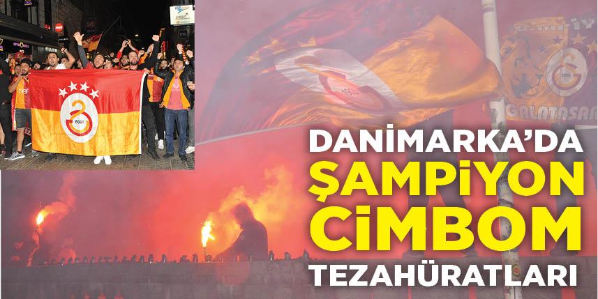 Danimarka'da Galatasaray'ın şampiyonluk kutlamaları renkli geçti